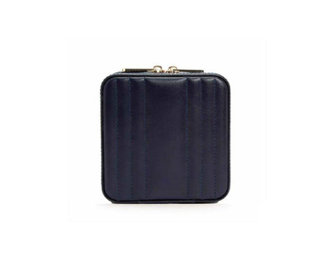 WOLF Maria Small Jewelry Zip Case Navy 766217