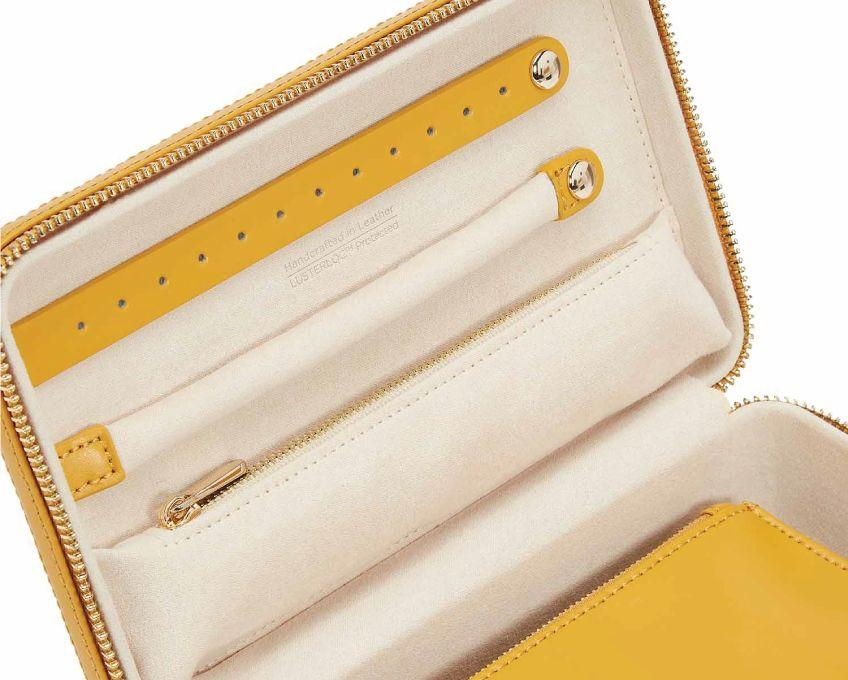 WOLF Maria Medium Jewelry Zip Case Mustard 766393