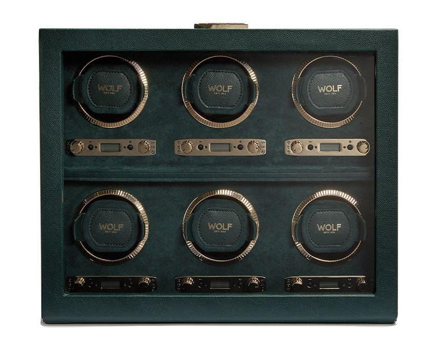 WOLF British Racing Green 6 Piece Watch Winder 792441