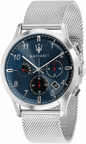 Maserati Ricordo 42mm Chronograph Blue Dial Mesh Strap Men's Watch R8873625003