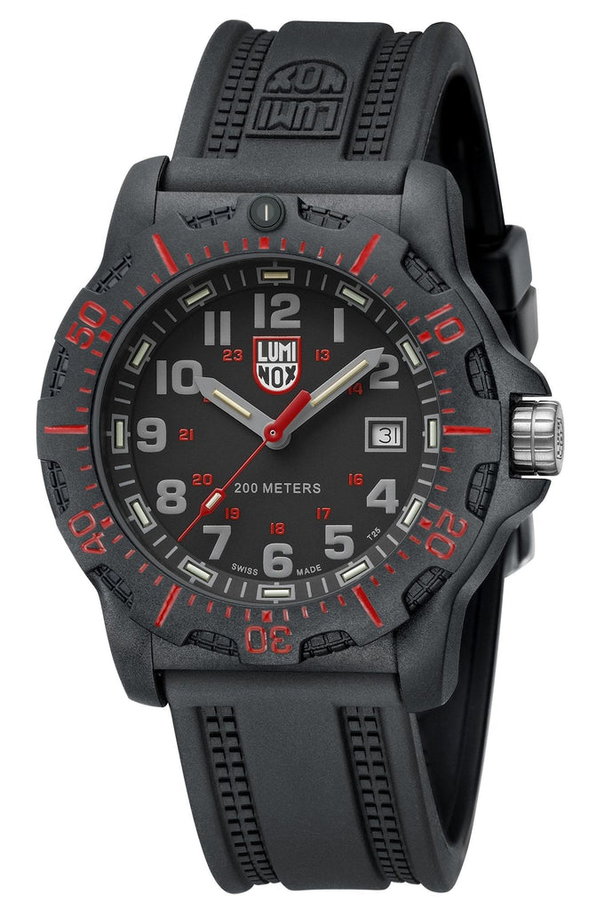 Luminox BlackOps 8895 Carbon Case Black Rubber Strap Men's Watch XL.8895