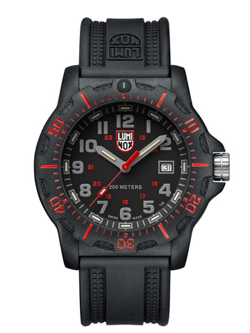 Luminox Land Series BlackOps 8895 Carbon Case Black Rubber Strap Men's Watch XL.8895