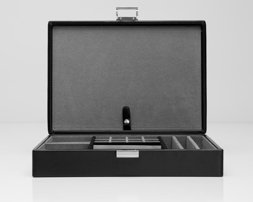 WOLF Heritage 4 Piece Watch Box With Valet 99505