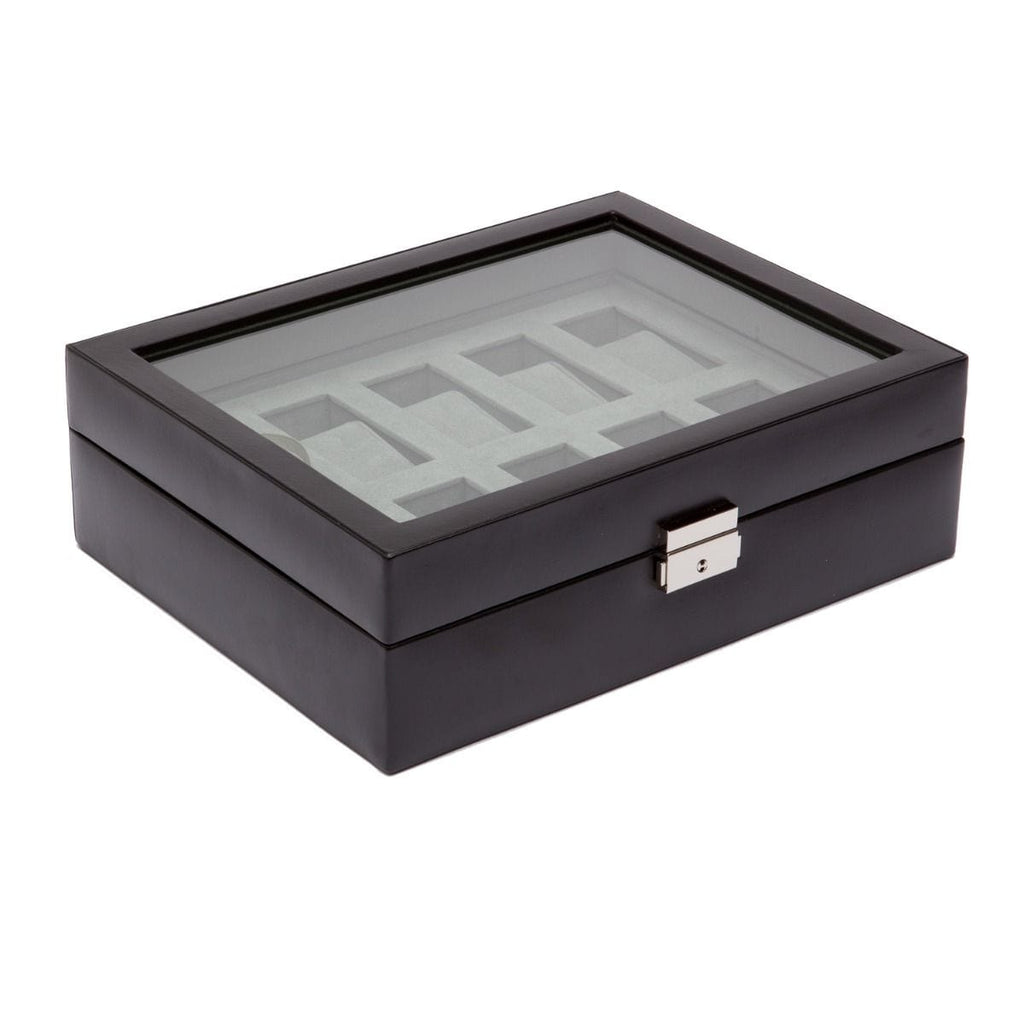 WOLF 99507 Black 10 Piece Watch Box Heritage