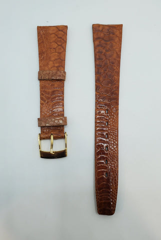 Brown 18mm Genuine Chicken Leg Skin Watch Strap