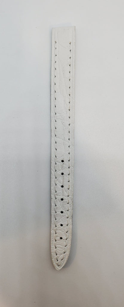 White 10mm Genuine Calfskin Made In Italy Watch Strap