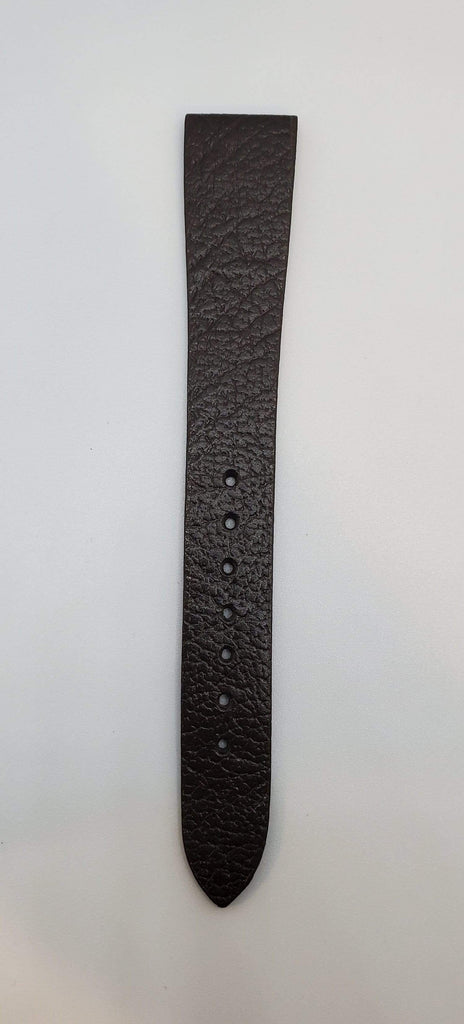 Dark Brown 16mm Genuine Leather Chocolate Watch Strap