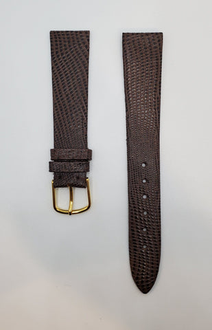 JB Champion 18mm Lizard-Calf Dark-Brown Chocolate Watch Strap