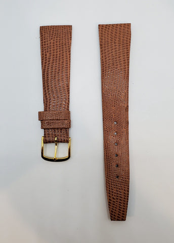 Brown 19mm Leather Watch Strap