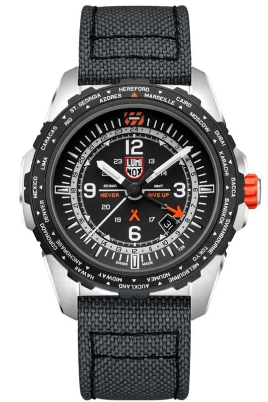 Luminox Bear Grylls Survival AIR GMT Leather Strap Men's Watch XB.3761