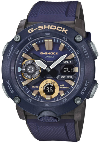 G-Shock Analog-Digital Carbon-Resin Case Purple Men's Watch GA2000-2A