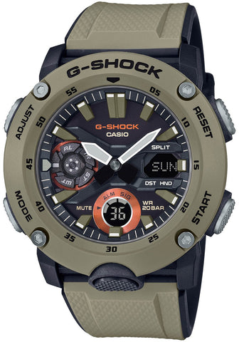 G-Shock Analog-Digital Carbon-Resin Case Beige Men's Watch GA2000-5A