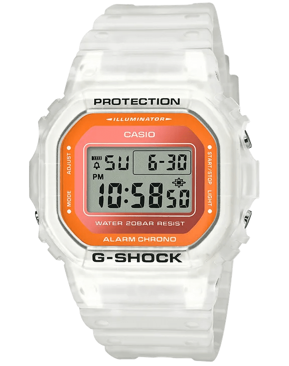 G-Shock Digital Sport Clear Semi-Transparent Unisex Watch DW5600LS-7