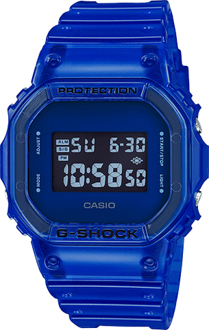 G-Shock Digital Sport Blue Skeleton Unisex Watch DW5600SB-2