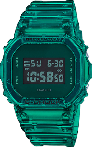 G-Shock Digital Sport Green Skeleton Unisex Watch DW5600SB-3