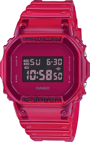 G-Shock Digital Sport Red Skeleton Unisex Watch DW5600SB-4