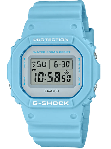 G-Shock Digital Sport Baby Blue Unisex Watch DW5600SC-2