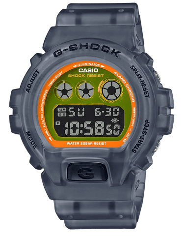 G-Shock Digital Sport Grey Semi-Transparent Unisex Watch DW6900LS-1