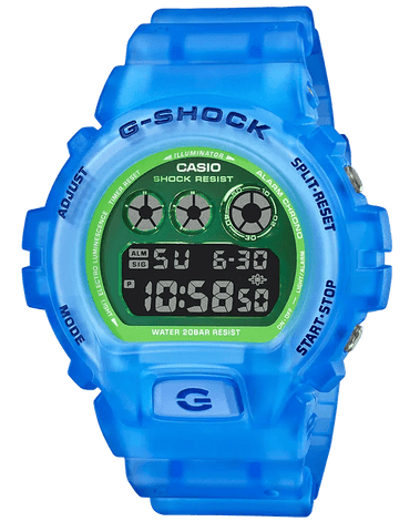 G-Shock Digital Sport Blue Semi-Transparent Unisex Watch DW6900LS-2