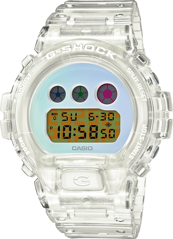 G-Shock Digital Transparent Limited Edition Three Digital Dials Men's Watch DW6900SP-7