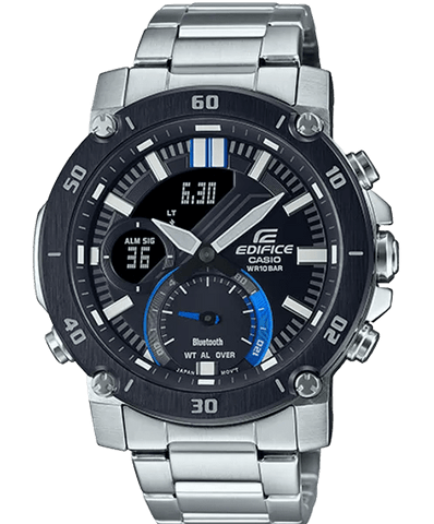 EDIFICE Casio Bluetooth Black-Blue Stainless Steel Men's Watch ECB20DB-1A
