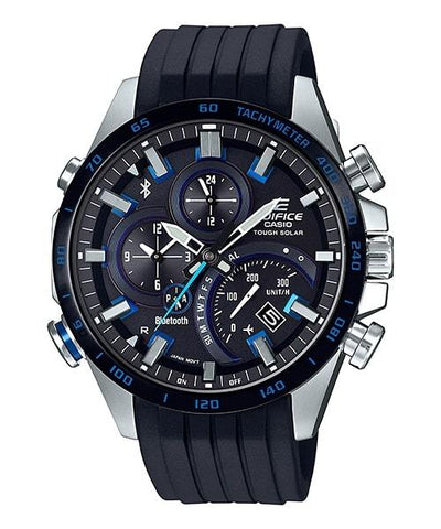 EDIFICE Casio Smartphone Link Black Rubber Strap Solar Men's Watch EQB501XBR-1A