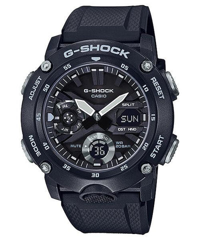 G-Shock Analog-Digital Carbon-Resin Case Black Men's Watch GA2000S-1A