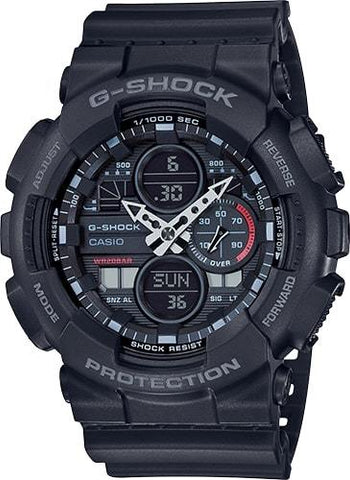 G-Shock Analog-Digital Black Resin Men's Watch GA140-1A1