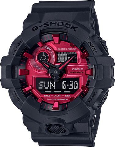 G-Shock Analog-Digital Sport Red Black Rubber Strap Men's Watch GA700AR-1A