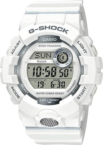 G-Shock Digital Fitness White Resin Strap Bluetooth Connection Men's Watch GBD800-7