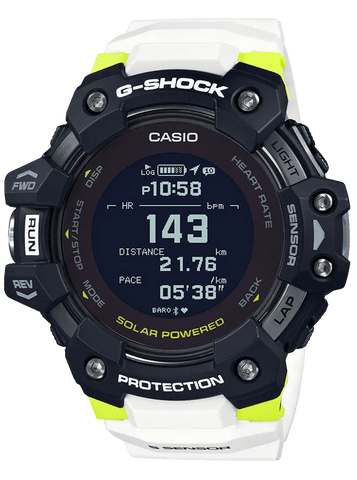 G-Shock MOVE Digtal Sports GPS-Heart Rate White-Black Men's Watch GBDH1000-1A7