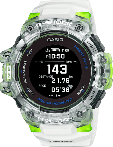 G-Shock MOVE Digtal Sports GPS-Heart Rate Transparent White Men's Watch GBDH1000-7A9