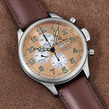 Ernst Benz GC10113 Men's Brown 47mm Automatic Watch Traditional ChronoScope Copper Dial Brown Classic Leather Strap Chronograph