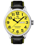 Ernst Benz Chronosport 47mm Swiss Automatic Yellow Dial Black Numerals Men's Watch GC10219