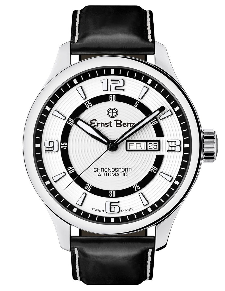 Ernst Benz ChronoSport Contemporary 47mm White Dial Automatic Men's Watch GC10225