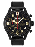 Ernst Benz Chronolunar Officer DLC 47mm Black-Gold Dial Men's Watch GC10383-DLC