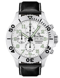 Ernst Benz Chronodiver 47mm White Dial Black Leather Band Men's Watch GC10722