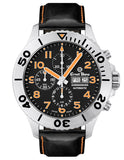 Ernst Benz Chronodiver 47mm Black - Orange Rotating Bezel Men's Watch GC10726