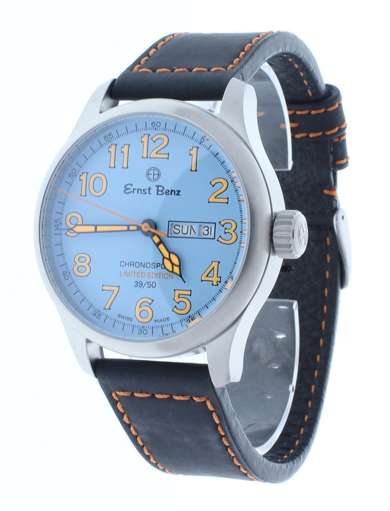 Ernst Benz Limited Edition ChronoRacer Chronosport 44mm Orange Numerals Men's Watch GC40200/CR2
