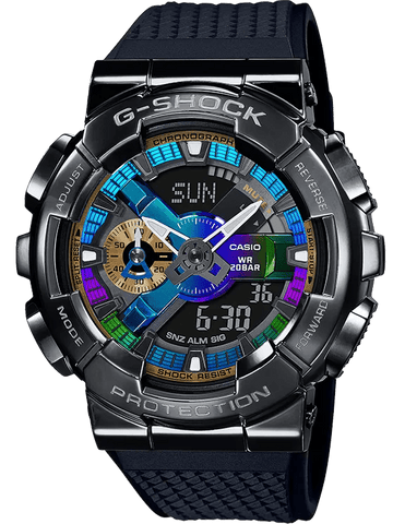 G-Shock Analog-Digital Gunmetal Multi-Color Dial Black Strap Men's Watch GM110B-1A