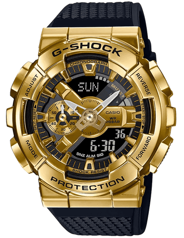 G-Shock Analog-Digital Gold Steel Black Strap Men's Watch GM110G-1A9