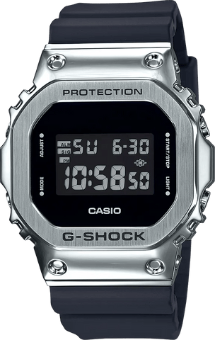 G-Shock Digital Silver-Black Men's Watch GM5600-1