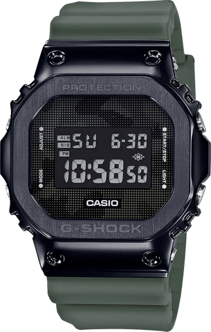 G-Shock Digital Black Case Green Resin Strap Quartz Men's Watch GM5600B-3