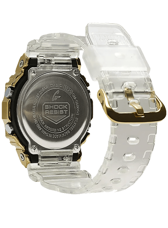 G-Shock Digital Limited Edition Gold IP Transparent Men's Watch GM5600SG-9