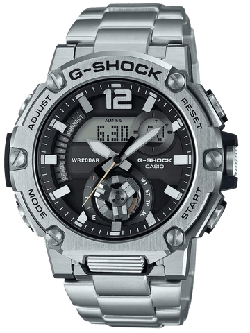 G-Shock G-STEEL Black Dial Stainless Steel Men's Watch GSTB300SD-1A