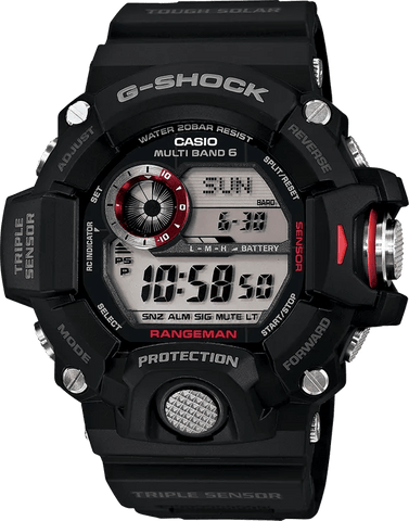G-Shock Master of G RANGEMAN Black-Red Men's Watch GW9400-1