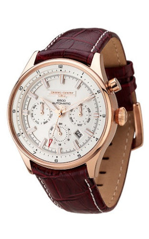 Jorg Gray JG6500-83 Limited Edition Men's Automatic Watch Rose Gold Case Brown Strap
