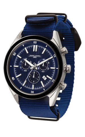 Jorg Gray JG6900-22N Mens Watch Chronograph Blue Dial Blue NATO Strap