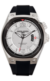 Jorg Gray JG8300-11 Men's Watch Silver Dial Black Silicone Strap Swiss Movement