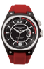 Jorg Gray JG8300-12 Men's Watch Black Dial Red Silicone Strap Swiss Movement